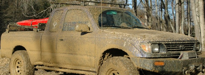 toyota Tacoma in mud