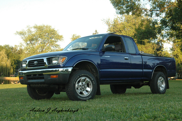 Totally stock 95 Toyota Tacoma shortly after purchase in 2011.