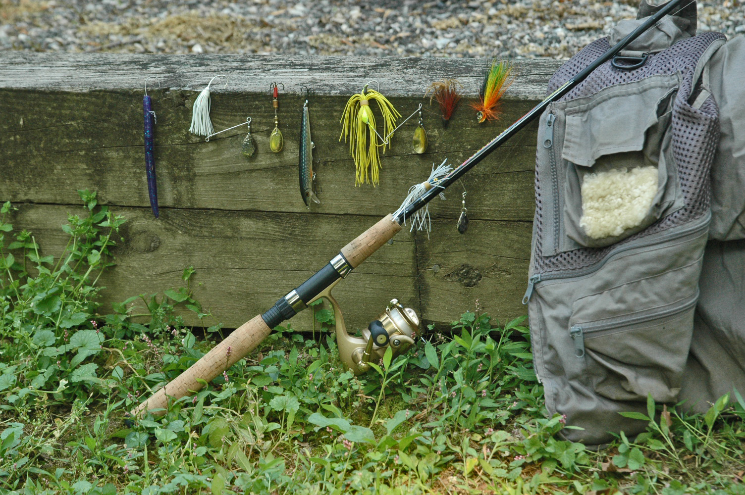 wet wading for smallmouth bass - monocacy river - augie's, Hard Baits